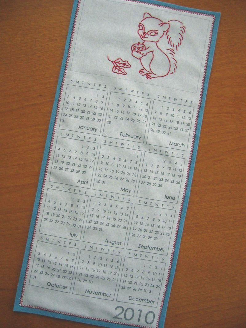 1-7-10 Squirrel Calendar